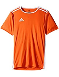(アディダス) adidas キッズTシャツ Entrada 18 Jersey (Little Kids/Big Kids) Orange/White LG (14-16 Big Kids) (L) One Size