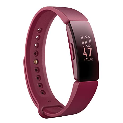 Fitbit フィットビット フィットネストラッカー Inspire 超軽量20g タッチスクリーン操作 耐水50m 着信/SMS/アプリ(LINE/Twitter/Facebook)通知 iOS/android対応 睡眠記録 歩数&距離&カロリー記録 L/Sサイズ【日本正規品】 FB412BYBY-FRCJK