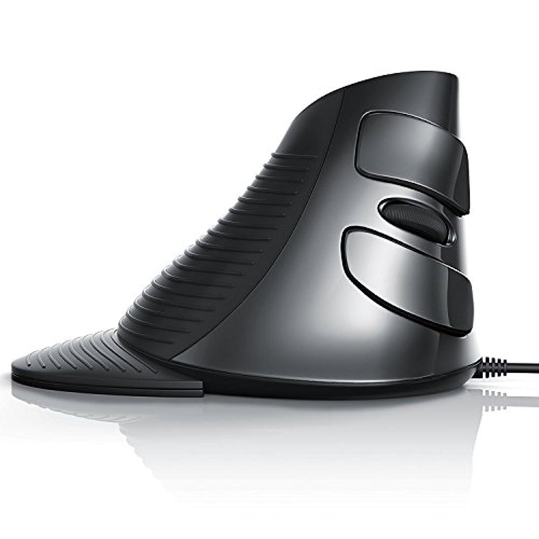 水差しリード偶然のJTD マウス スクロールマウス USB エルゴノミクスマウス 垂直マウス 着脱式リストレスト 手/手首の痛みを軽減/腱鞘炎防止 (有線)