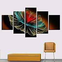 Faaddd 5枚の抽象花と花の装飾的な絵画水墨画家の絵画新しい40×60 40×80 40×100 Cmいいえフレーム、H
