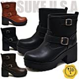 YOSUKE U.S.A ヨースケ 厚底ブーツ ヨースケ エンジニアブーツ ショートブーツ エンジニブーツ おでこ靴