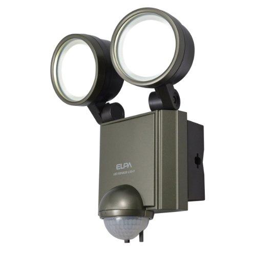 エルパ 屋外用センサーライト AC電源 6wLED 2灯 ESL-602AC(1台)
