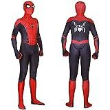 即日発送 ARAND Spider-Man: Far From Home スパイダーマン:ファー・フロム・ホーム コスチューム コスプレ ハロウィン 文化祭 忘年会 学園祭 演劇服装 仮装 変装 全身タイツ マスク外し可能タイプ 伸縮性あり (スパイ