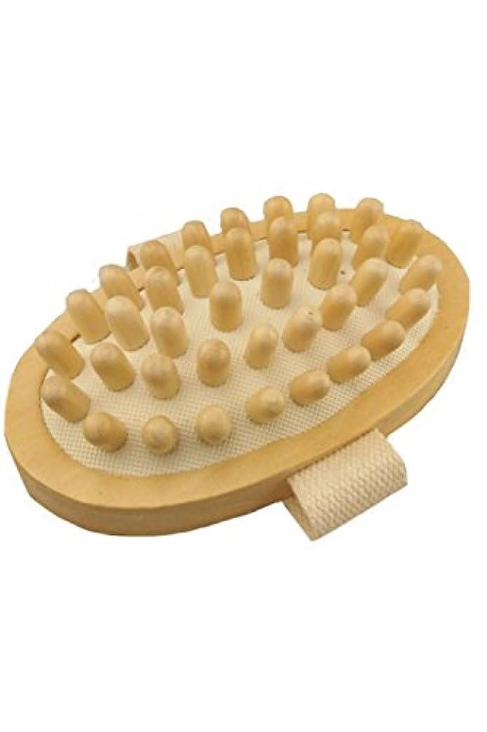 野生芽ペインティング(POMAIKAI) マッサージブラシ ボディ セルライト リンパ ボディーブラシ むくみ解消 お腹 足 脚 マッサージ 1個