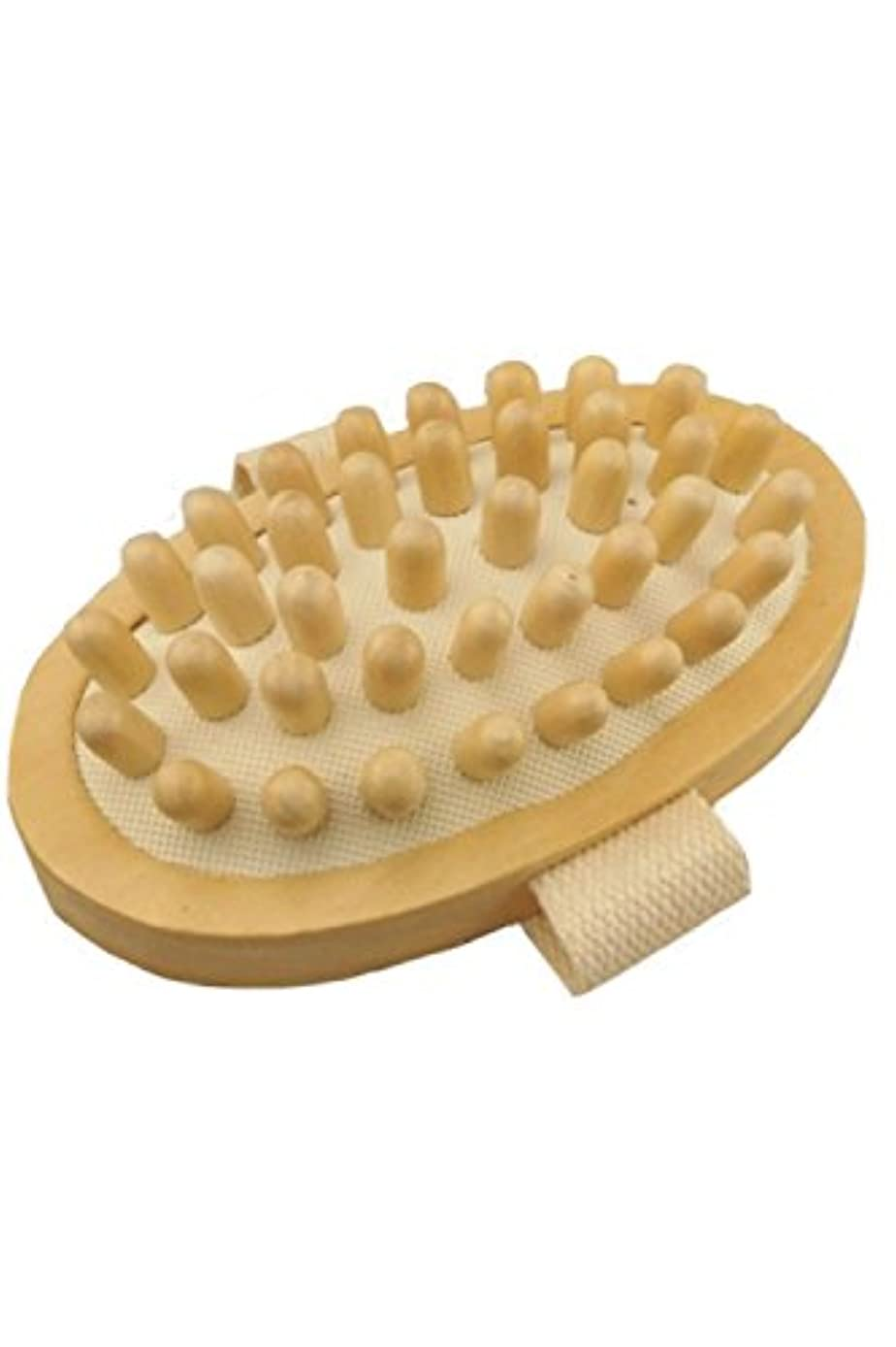 (POMAIKAI) マッサージブラシ ボディ セルライト リンパ ボディーブラシ むくみ解消 お腹 足 脚 マッサージ 1個