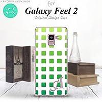SC-02L Galaxy Feel2 スマホケース カバー スクエア 緑 【対応機種:Galaxy Feel2 SC-02L】【アルファベット [M]】