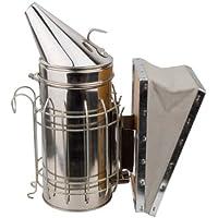 高級 ステンレス製 燻煙器 蜜蜂用 養蜂場 牛革使用(じゃばら部分)