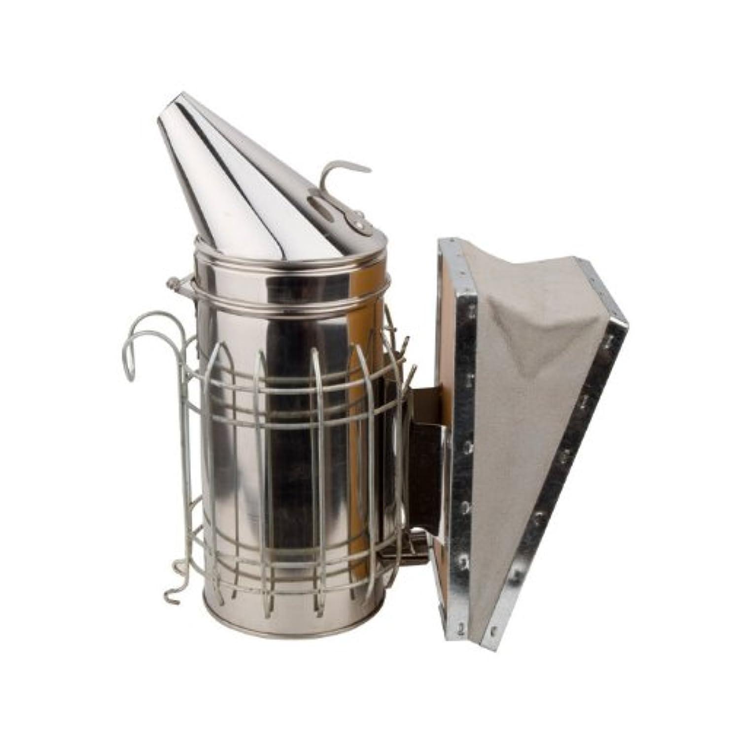 大陸帝国キネマティクス高級 ステンレス製 燻煙器 蜜蜂用 養蜂場 牛革使用(じゃばら部分)