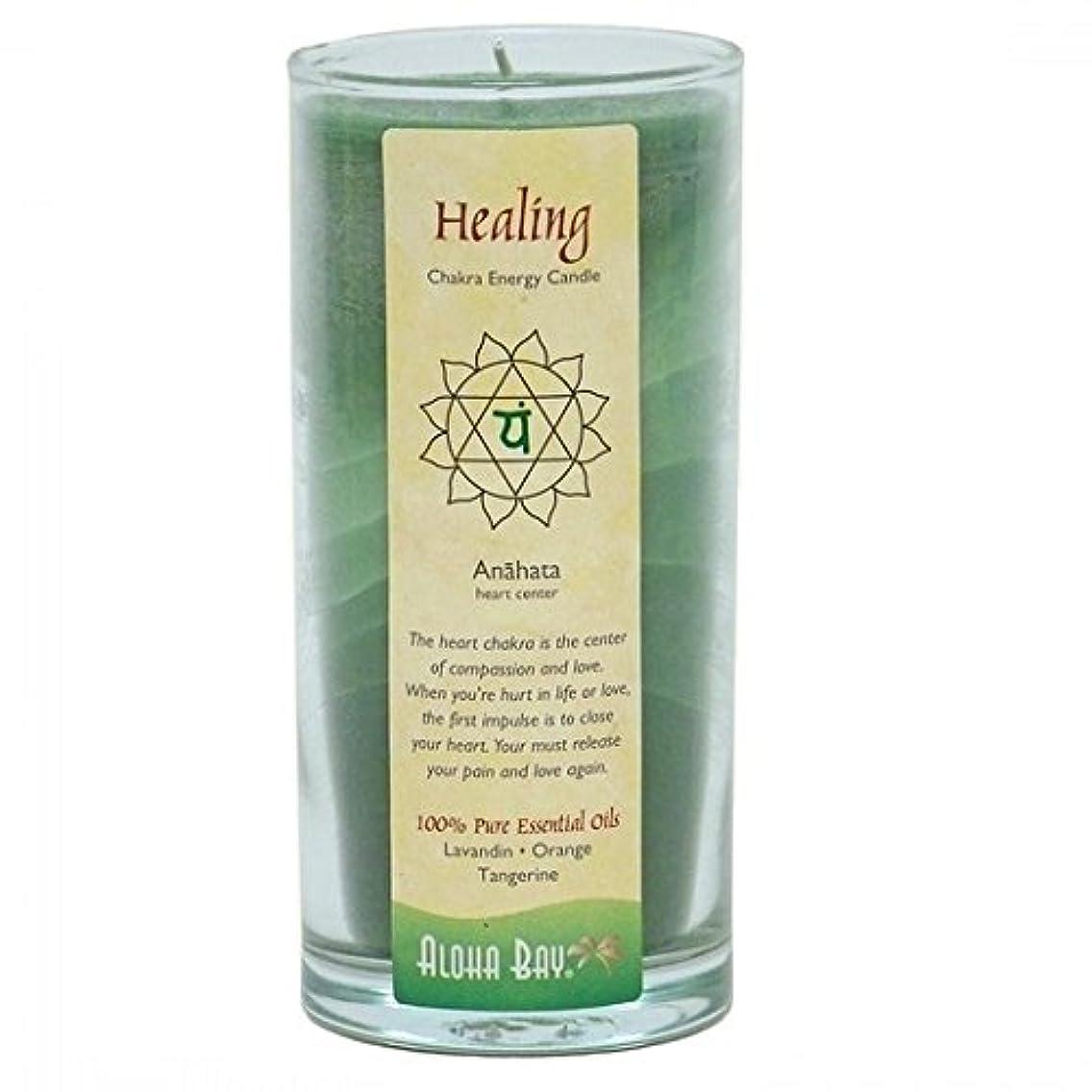 挑発する磨かれた飼料Aloha Bay - Chakraエネルギー蝋燭の瓶の治療の治療 - 11ポンド