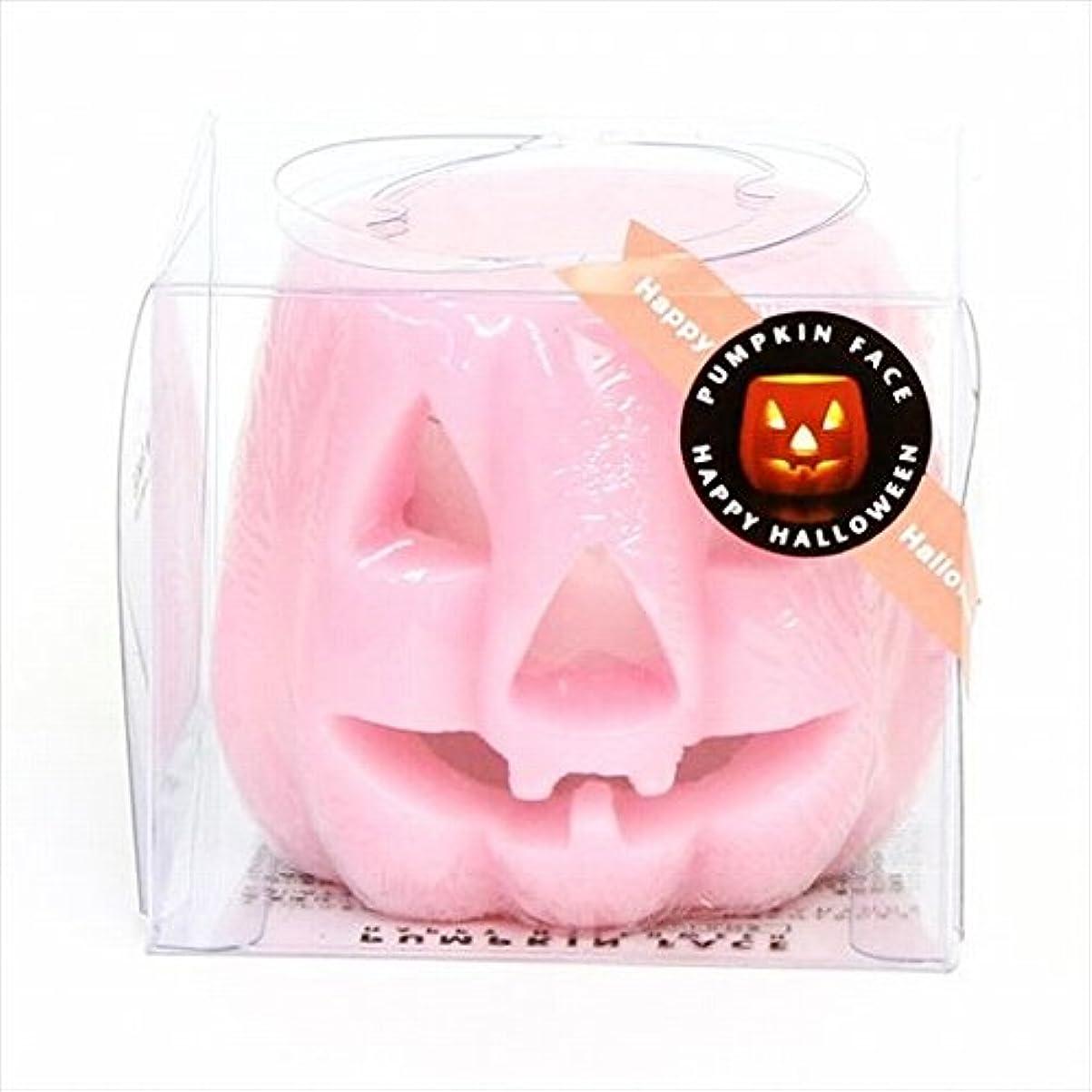 バイアス時間不快なカメヤマキャンドル(kameyama candle) パンプキンフェイスG 「 ピンク 」