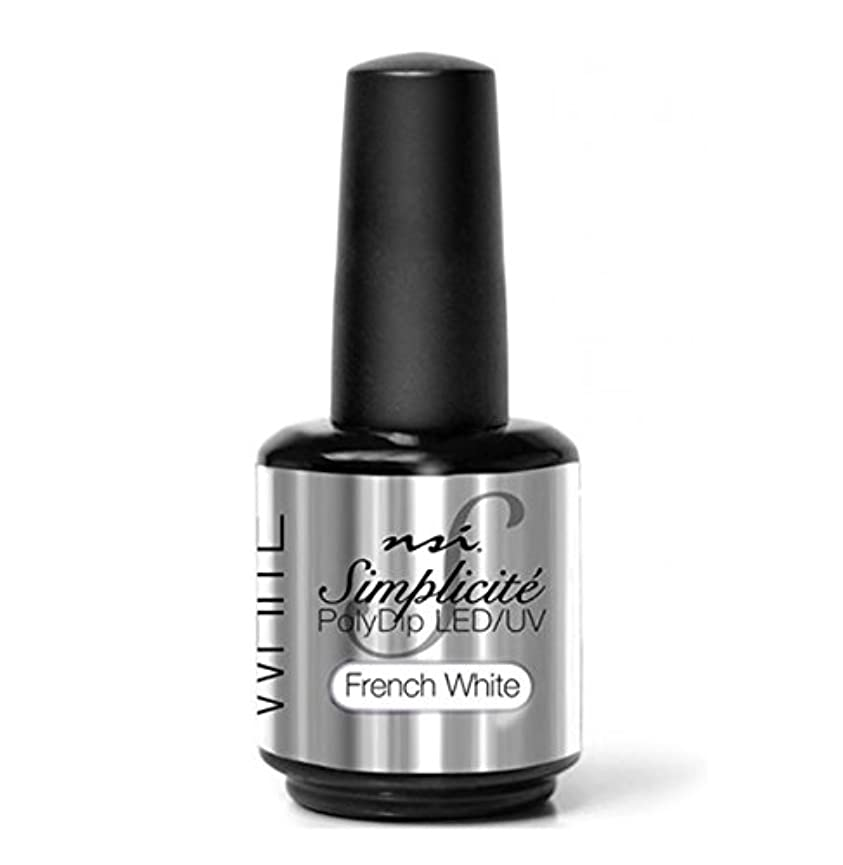 ディレクター侵入する過激派NSI - Simplicité PolyDip LED/UV Polish - French White - 15 ml/0.5 oz
