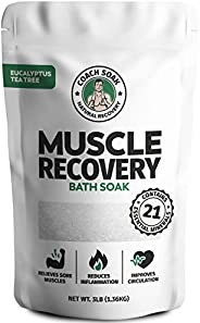 Coach Soak: Muscle Recovery Bath Soak - Natural Magnesium Muscle Relief & Joint Soother - 21 Minerals, Ess