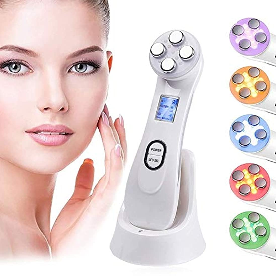 制限複製戸口きれいなマッサージを老化防止1つの顔の摩擦でマイクロ現在のエレクトロポレーション針なし美白美容皮膚光子美容器5