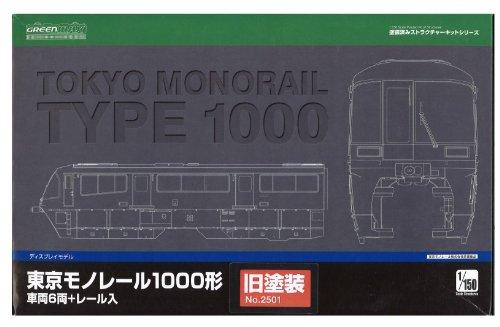 Nゲージ 2502 東京モノレール1000形 (ディスプレイモデル) 新塗装 車両6両/レール入