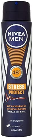 NIVEA MEN Stress Protect Aerosol Antiperspirant Deodorant Spray, 250 ml
