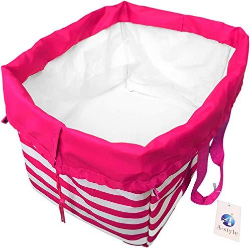 A-style エコバッグ レジかご 折りたたみタイプ 保冷はっ水素材使用 34L ビッグサイズ (ピンク)
