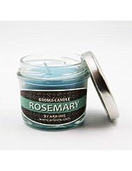 ARB-IMS アジアン エスニック アロマキャンドル 香り9種類 オーガニック 天然素材 (ローズマリー)