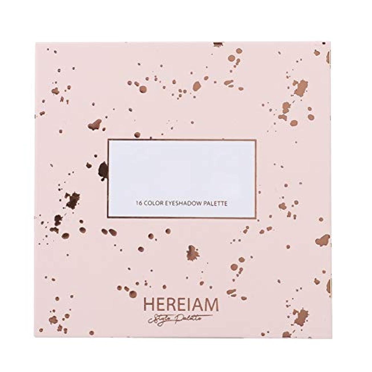 ハイブリッド実施する精算新品 16カラー ポップパウダー ガール 魅力 化粧 アイシャドウ パレットマットグリッター (#1)