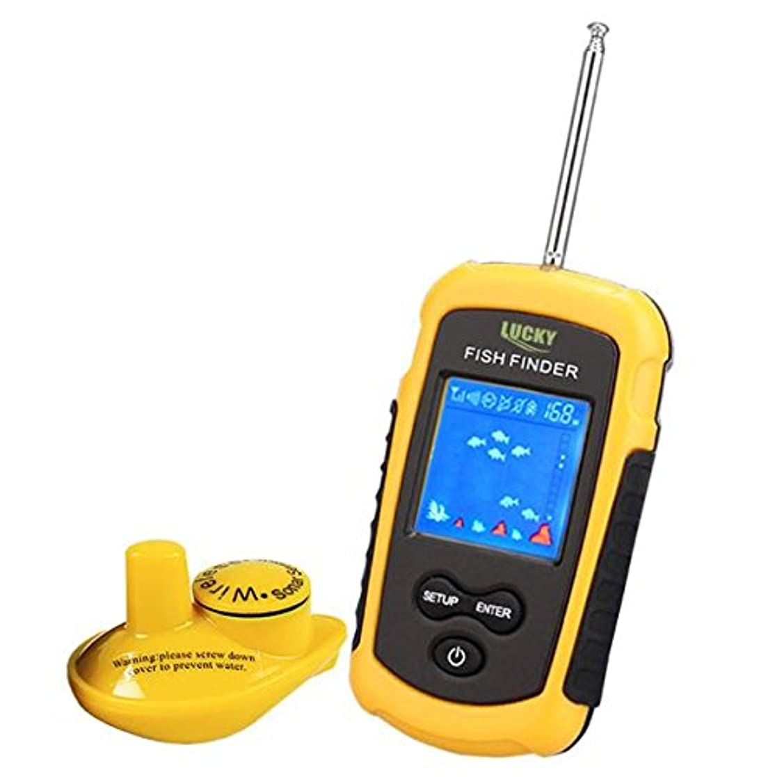 嬉しいですクール名前でRaiFu 魚群探知機 魚探 釣り道具 ポータブル ソナー フィッシュ ファインダー アラーム フィッシング ルアー エコーサウンダー フィッシング ファインダー