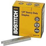 Bostitch Heavy Duty Premium Staples, 2-25 Sheets, 0.25 Inch Leg, 5,000 Per Box (SB351/4-5M)