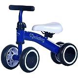 Kids LovemyhomeDD Balance Bike Toddler Push Scooter Baby Walker 4 Wheels Ride on Toy