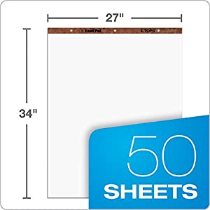 Easel Pads, Unruled, 27 x 34, White, 50-Sheet Pads, 2 Pads/Carton (並行輸入品)