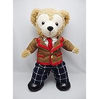 Sサイズ(全長43cm) ダッフィー 衣装 赤色 学生服  コスチューム  hdn31