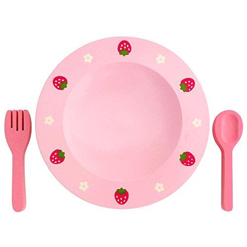 木のおままごと 食器 野苺 ディッシュセット お皿&スプーン...