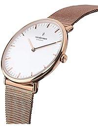 [ノードグリーン]Nordgreen 腕時計 ユニセックス ウォッチ Native ローズゴールド 40mm 北欧 デザイナーウォッチ ローズゴールドメッシュ【2年保証】