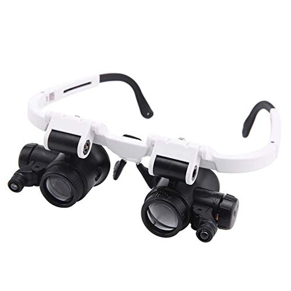 申し立てる困惑ベリー照明付きヘッドセット拡大鏡、2X付き8X、15X、23X電子まつげ工芸品ジュエリー回路時計修理用ヘッドフリー拡大鏡ルーペ