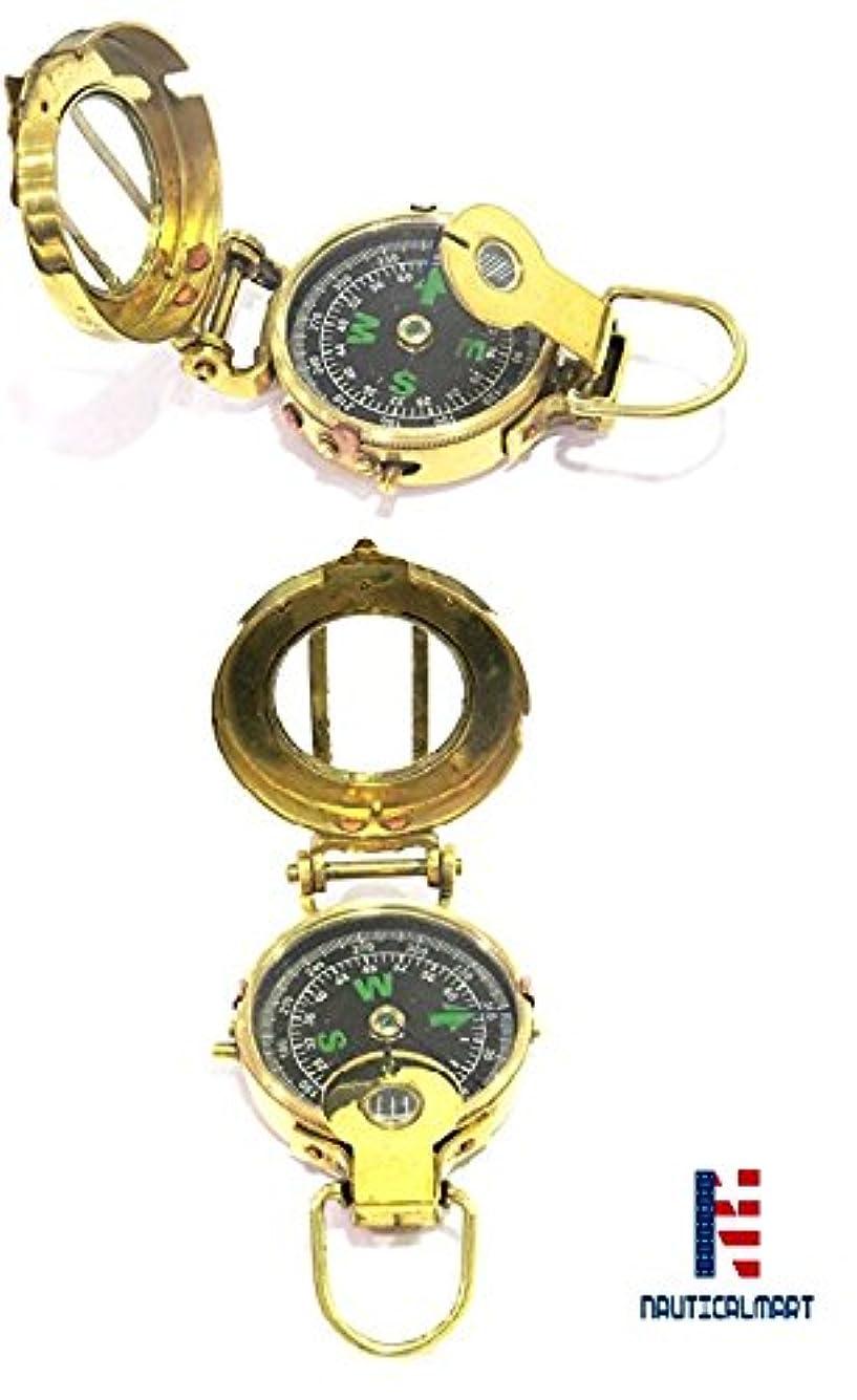 アラバマ実現可能トランクNAUTICALMART Vintage Military Navigational Marine真鍮コンパス3