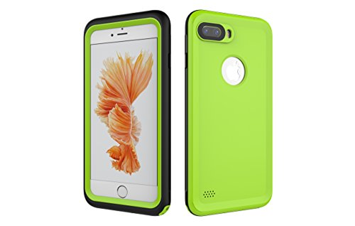 Iphone 7 Plus 防水電話ケースは、HBER IP68完全密閉水泳ダイビング水中防塵耐雪性の耐震ヘビーデューティケースカバーは、iphone7 plusのために敏感な画面タッチ指紋認証ロック解除をサポートしています (緑)