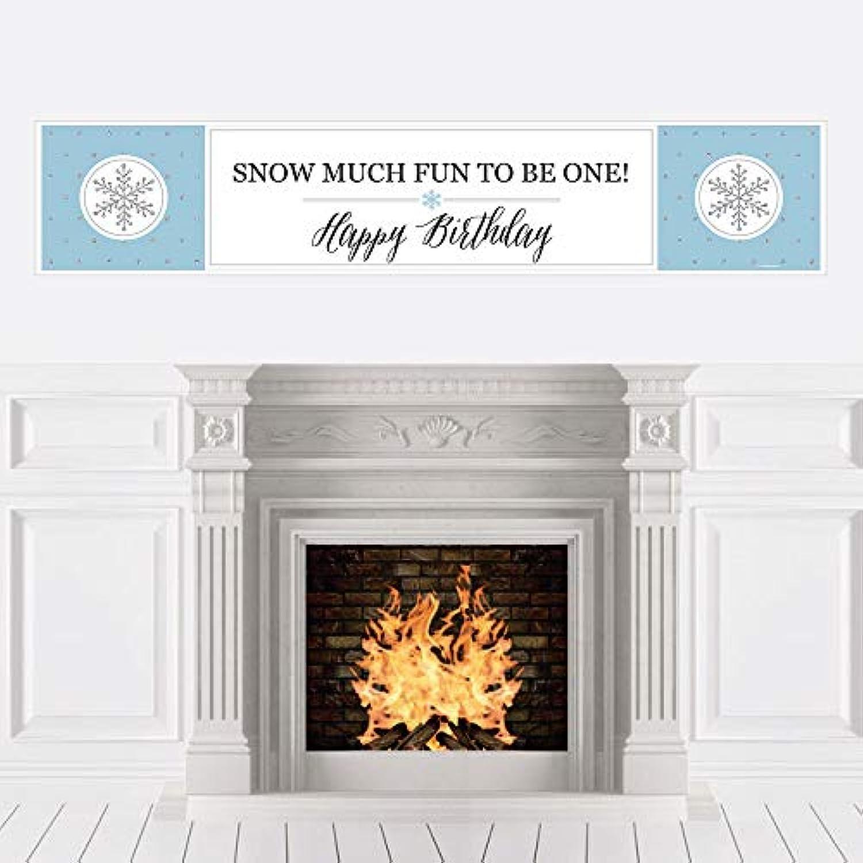 Big Dot of Happiness ONEderland - ホリデー 雪の結晶 冬 ワンダーランド 誕生日パーティー デコレーション パーティーバナー