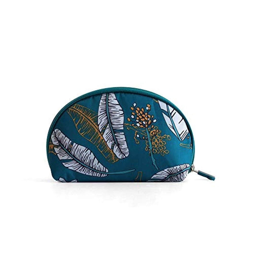 男ウサギみなすKARRESLY 化粧ポーチ 防水 ラウンドポーチ 化粧 レデイース メイクポーチ 小さめ 軽量 機能的 小物入れ コンパクト 持ち運び便利 旅行 グリーン
