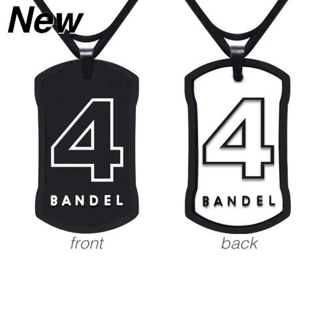 顔料焦げ好意的[バンデル?BANDEL]ナンバー ネックレス リバーシブル No.4(ブラックxホワイト)50cm