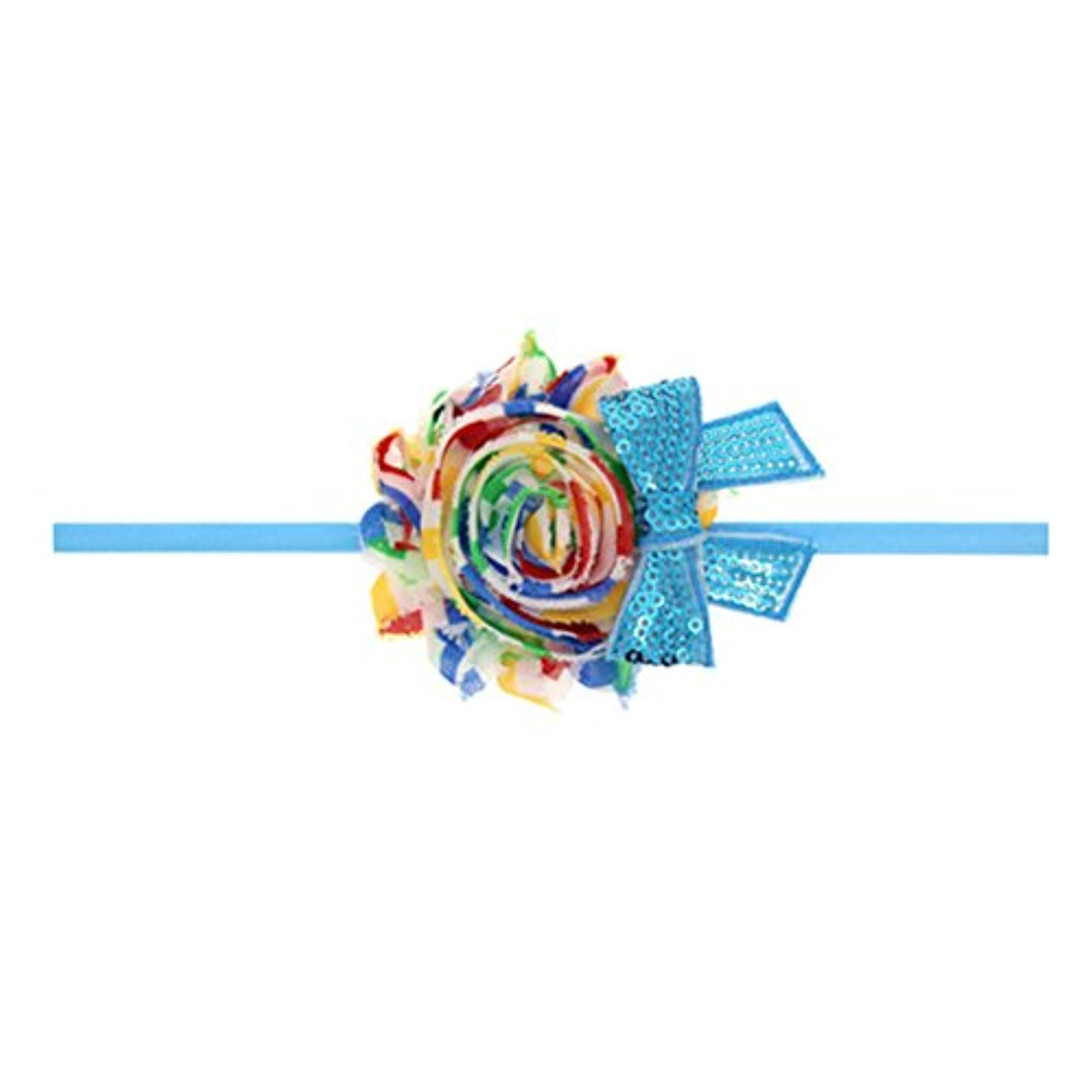 Zhhlaixing ベビー小物 Baby Girls Toddler Kids Colorful Silk flower Headband Hairband Hair Accessories for Christmas