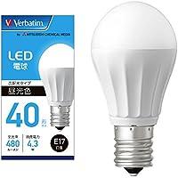 三菱ケミカルメディア Verbatim LED電球 E17 40W形相当 昼光色 (広配光/定格寿命40000時間/密閉器具対応) LDA4D-E17-G/LCV2