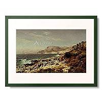 ペーダー・モルク・モンステッド Moensted, Peder 「Coastline near Monte Carlo. 1907」 額装アート作品