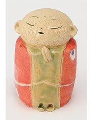 お地蔵様 香炉シリーズ 赤 お地蔵様 香炉 2.8寸 [H8.5cm] HANDMADE プレゼント ギフト 和食器 かわいい インテリア