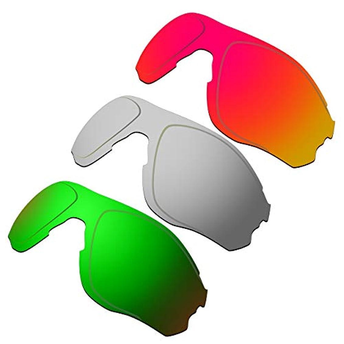 不均一見ました欠員HKUCO 強化 する交換用レンズ Oakley EVZero OO9308 赤/チタン/グリーン サングラス