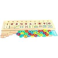 Preschool Kids Count & Match Numbers Game Greatギフト木製クラシックおもちゃFun