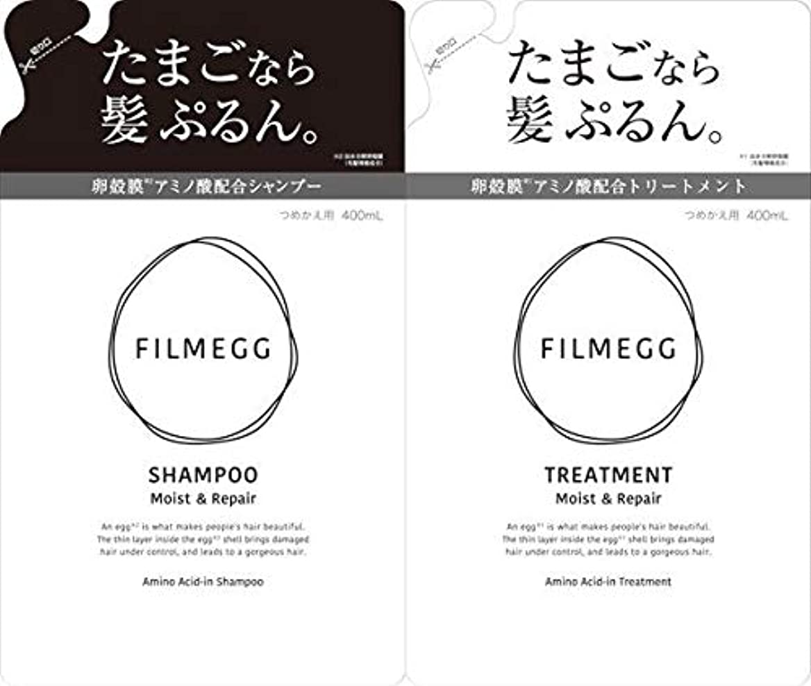 小さな高いラテン【つめ替ペアセット】FILMEGG(フィルメッグ)シャンプー&トリートメント 各400ml