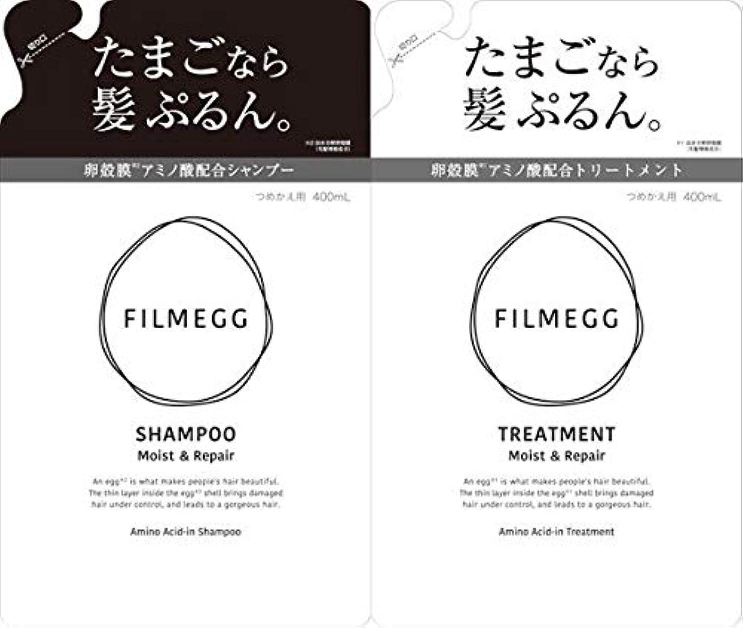 印刷する雨年金受給者【つめ替ペアセット】FILMEGG(フィルメッグ)シャンプー&トリートメント 各400ml