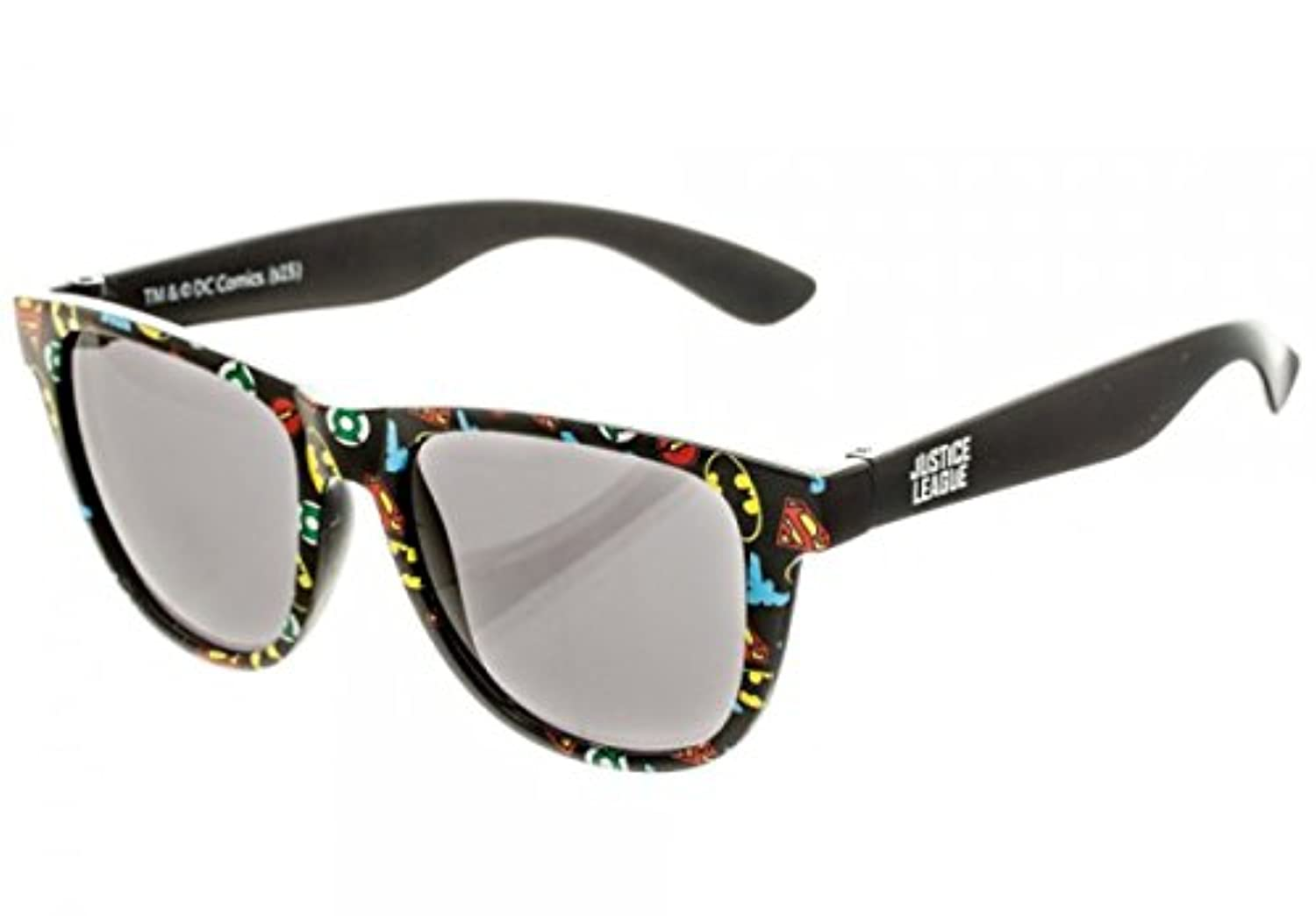 [バイオワールド]bioWorld DC Comics All Over Print Logo Sunglasses with Soft Pouch 190371018947 [並行輸入品]