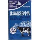 北海道日高乳業 北海道3.6牛乳 1000ml 「常温保存可能品」 ×4セット
