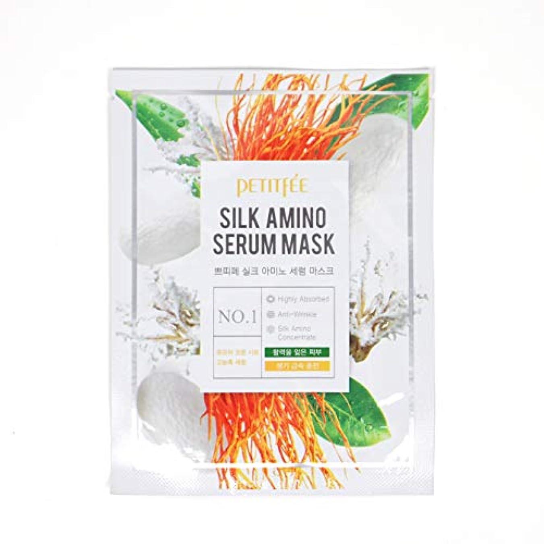 ホームレス眠る法王PETITFEE (プチペ) シルクアミノセラムマスク 25gx10P (保湿) / Silk Amino Serum Mask
