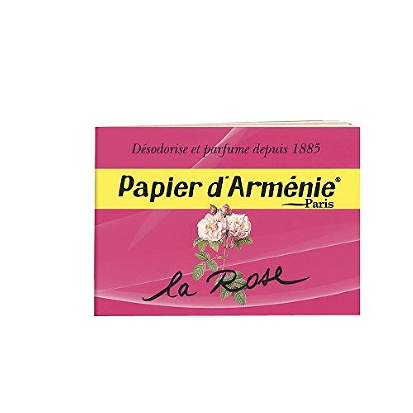 同行考古学的な実証するPAPIER D'ARMENIE La Rose (1 carnet)