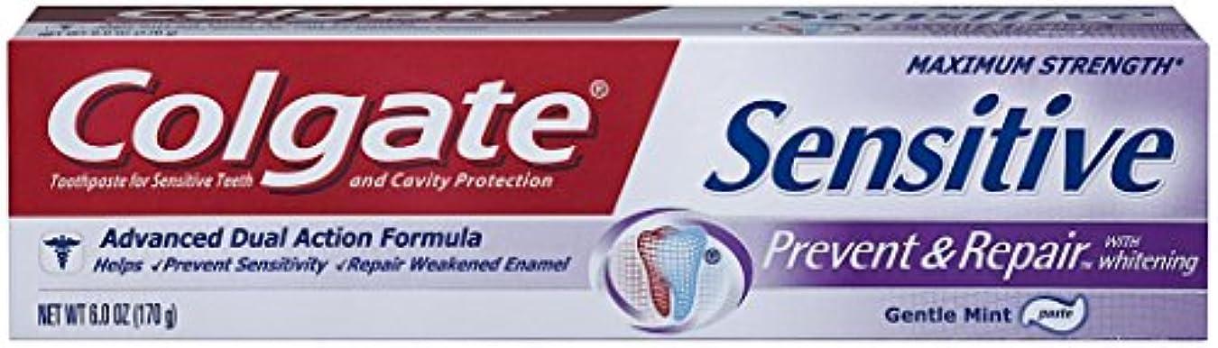 荒廃するストライクアテンダントColgate 敏感防ぎ、修理歯磨き粉、6オンス