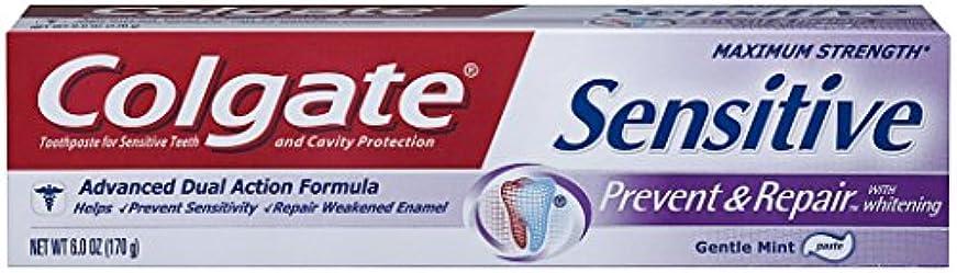 乙女水銀の急勾配のColgate 敏感防ぎ、修理歯磨き粉、6オンス