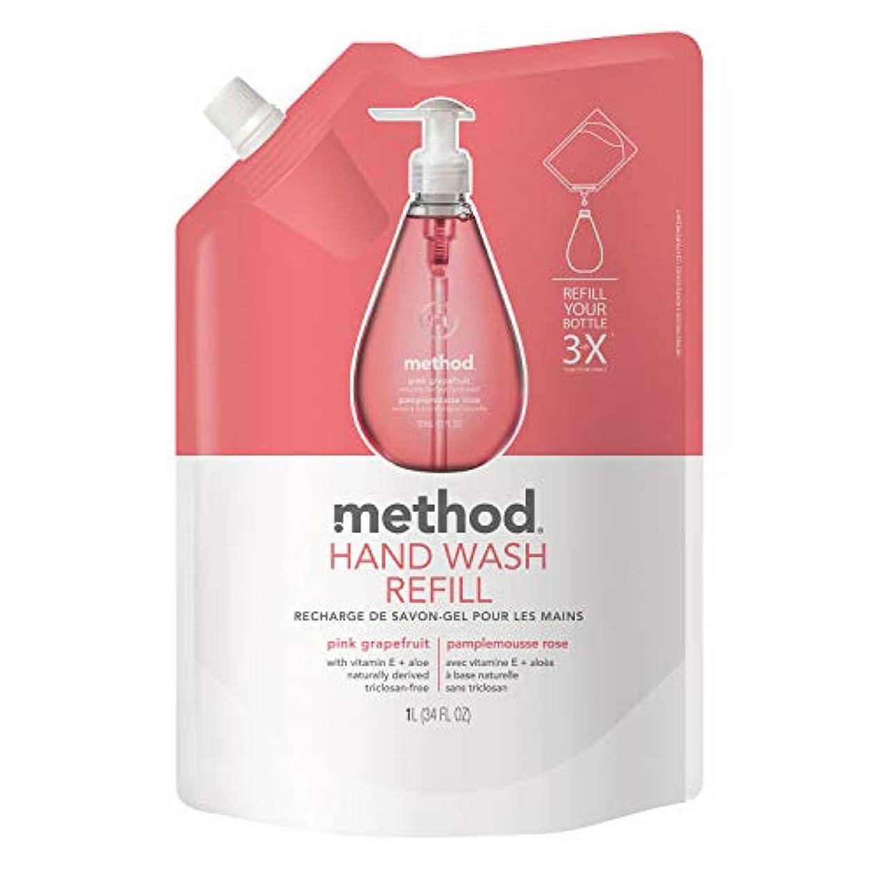 若さ利得鎮静剤メソッド ハンドソープ ジェルタイプ ピンクグレープフルーツ つめかえ用1L